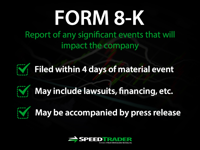 form 8k sec filings