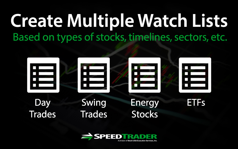 Multiple Stock Watch Lists